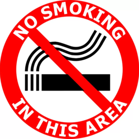 400mm dia No Smoking In This area FG182 Floor Graphic Sign