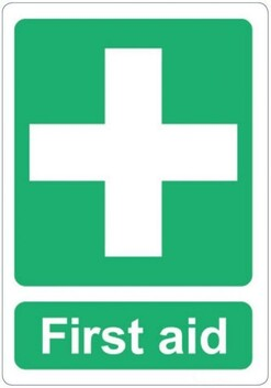 First Aid Adhesive Label