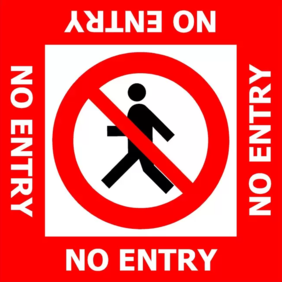 400x400 No Entry FL186 Floor Graphic Sign