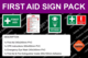 First Aid Signage Starter Pack
