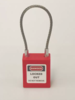 Safety Padlock Wire Cable - Red body