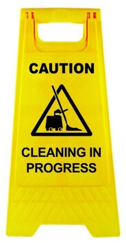 Caution - Cleaning in Progress A-Frame Sign