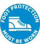 400mm dia Foot Protection Must Be Worn FG172 Floor Graphic Sign