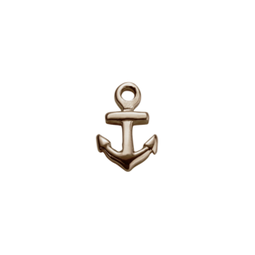Stow Lockets 9ct Rose Gold Anchor