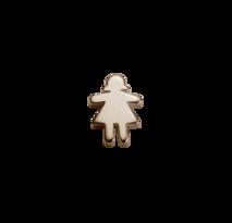 Stow Stowaway Girl Rose Gold Charm - Daring