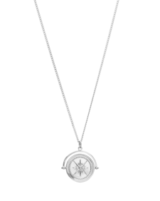 True North Spinner Coin Necklace Silver