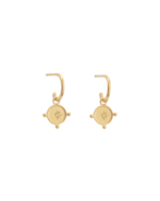Kirstin Ash Voyager Coin Earrings Gold Plated