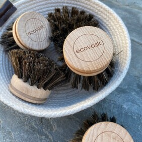Ecovask Replacement Brush Heads - Horse Hair mix bristle 3 Pack