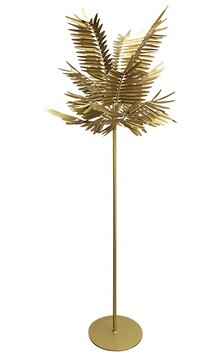 French Country Standing Gold Leaf Lamp 65cmDiax220cmH