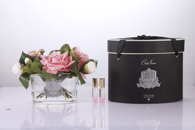 Cote Noire Roses - White Peach Clear Oval