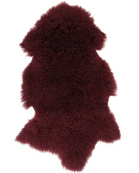 French Country Mongolian Fur Shrug Berry - 90x50cm