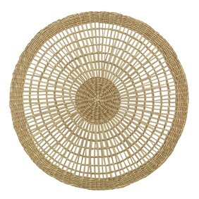 French Country Open Weave Round Placemat - Natural 29cmDia