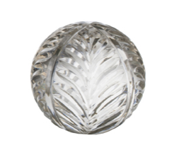 """French Country Wing Cut Glass Ball Small 3"""""""