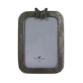 French Country Butterfly Photo Frame - Ant Sil Vert 4x6