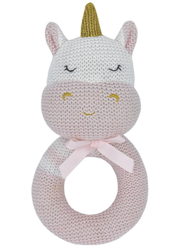 Living Textiles Kenzie Unicorn Knitted Rattle