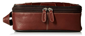 Dopp Country Saddle Leather Top Zip Travel Kit