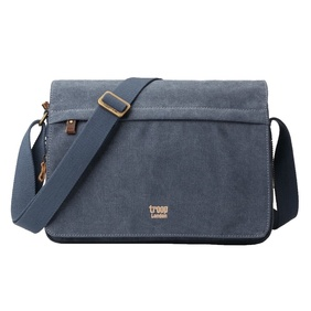 Troop Classic Flap Front Messenger Bag - Blue Small