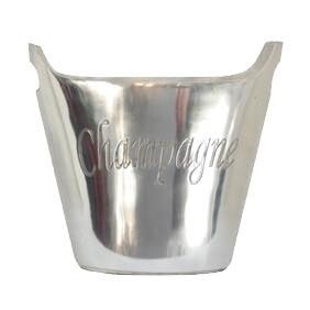 French Country Oval Champagne Bucket Large - Silver Plated