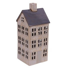 French Country Blue And White Tea Light House - Large 15.5cmLx16cmWx36cmH
