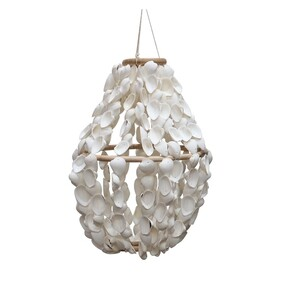 Le Forge Shell Chandelier 45cm - White