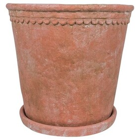 French Country Terracotta Scallop Planter Large