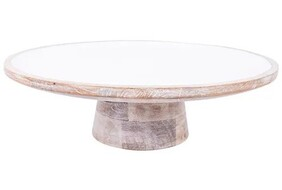 French Country Blanco Small Cake Stand 30x30cm