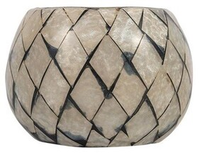 French Country Mosaic Round Votive - Small
