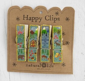 Natural Life Mountains Are Calling Happy Clips - Set of 4