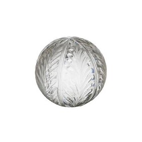 """French Country Wing Cut Glass Ball Medium 4"""""""