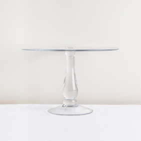 French Country Tall Glass Cake Stand 20Hx30Wcm