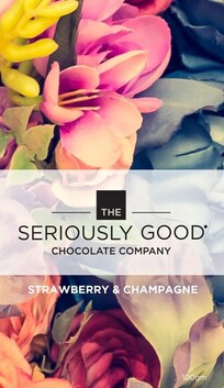 Seriously Good Chocolate Vintage Floral Strawberry & Champagne Tablet