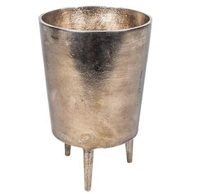 French Country Bronze Pot with Legs Short