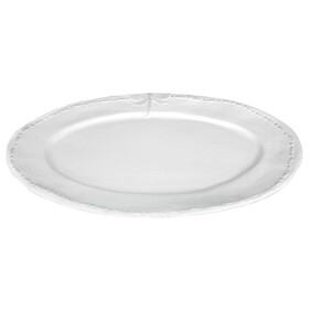 French Country Platter White Dragonfly Oval - Large