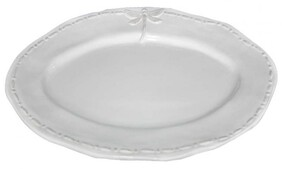 French Country White Dragonfly Oval Platter - Small