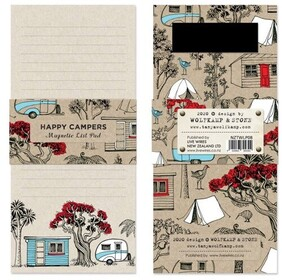 Wolfkamp & Stone Happy Campers Magnetic List Pad