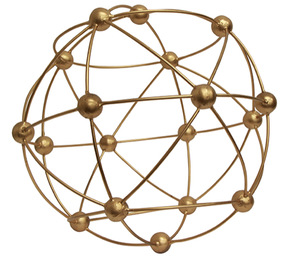 French Country Atomic Sphere - Gold