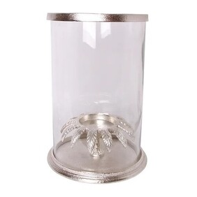French Country Leaf Hurricane - Silver