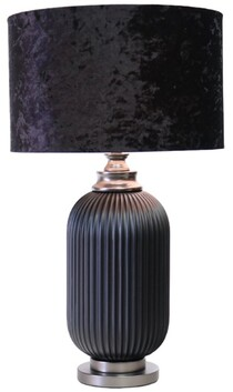 Le Forge Julian Table Lamp - Black with Black Shade