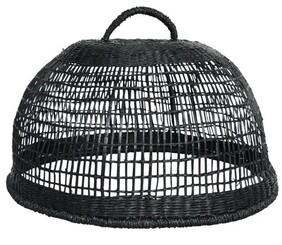 French Country Woven Food Cover - Black
