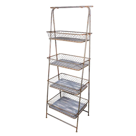 French Country Four Shelf Stand