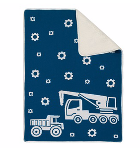 Linens & More Truck Sherpa Baby Blanket - Blue 75x100