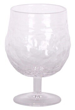 French Country Serena Clear Wine Goblet - 9cmDiax13cmH