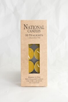 National Candle Beeswax Tealights - Pk 10