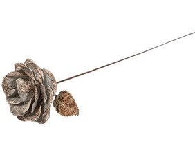 French Country Aged Metal Open Rose Bud