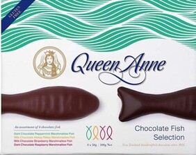 Queen Anne Fish Selection Hokey Pokey Chocolate - 200g