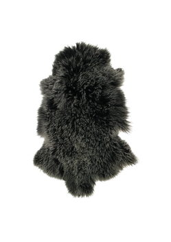 French Country Mongolian Fur Shrug Frost Black