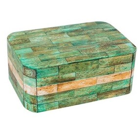 French Country Box Moss Check
