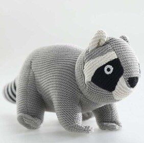 MM Linen Soft Toy Racoon