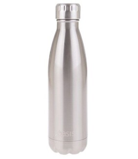 Oasis Insulated Drink Btle Oasis S/S Silver - 500ml