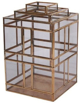 French Country Panelled Lantern - Small 18x18x28cmH